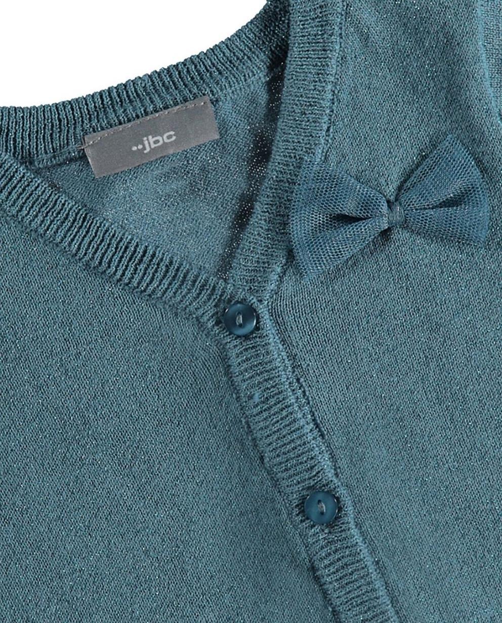 Strickjacken - Aqua - Jacke mit Metallfaden
